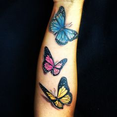 Butterfly tattoo love how real these look | Tattoos