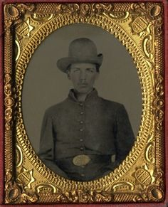 Confederate soldier identified as Deforest Parker, c. 1861-65.
