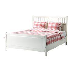 HEMNES Bettgestell IKEA Verstellbare Bettseiten - so können Matratzen in verschiedenen Stärken verwendet werden.