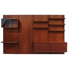 Panel Wall by Finn Juhl, Denmark, 1950 | From a unique collection of antique and modern bookcases at https://www.1stdibs.com/furniture/storage-case-pieces/bookcases/