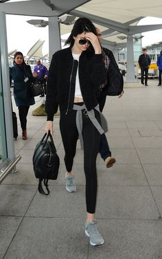 Acne Studios Tyson Boucle Bomber JACKET; Puma Arial SNEAKERS in Grey; Puma Essential Studio Long TIGHTS and Dolce & Gabbana Dg2102 SUNGLASSES