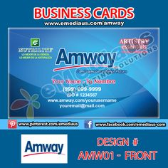 Amw03 front design business card 35 x 2 amway portfolio amw01 front design business card 35 colourmoves