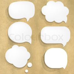 cardboard thought bubbles