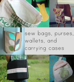 Tons and Tons of links to bag patterns and tutorials. No pics though which makes culling through them a pain.