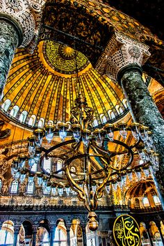 Hagia Sophia main interior, Istanbul, Turkey by jeri Islamic Architecture, Beautiful Architecture, Beautiful Buildings, Art And Architecture, Hagia Sophia, Places To Travel, Places To See, Places Around The World, Around The Worlds