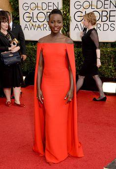 Alfombra roja Golden Globes 2014 - Lupita Nyong'o Lo, en un look de Ralph Lauren SS14