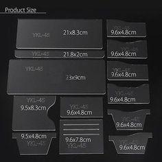 13x новый прозрачный акрил бумажник шаблон трафарет шаблон набор сделай сам кожа ремесло инструмент