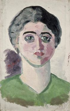Theo van Doesburg, Portret van Lena Milius, ca. 1916, olieverf op doek, 48,5 X 31,3, Lakenhal, Leiden, oud-tante van mij