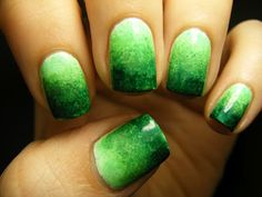 Green Gradient Mani - learn here  ~nail art
