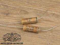 Vintage Repro Capacitor mfd uf 33 nF for Fender Telecaster Stratocaster and other electric Guitar, simply the best Capacitors for restauration and upgrade your Guitar Sound Fender Telecaster, Guitar Fender, Fendi, Custom Guitars, Vintage Guitars, Jewelry, Jewels, Schmuck, Jewerly