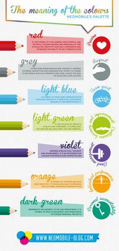 Het is goed om te weten wat de betekenis is achter sommige kleuren. Daarom heb ik hier een overzicht van geplaatst. bron pinterest