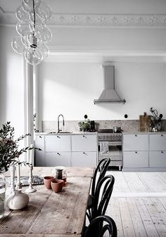grey kitchen & white