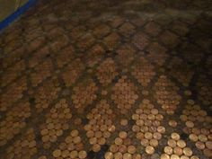 A penny floor can really fit the bill! Check out our guide to the best penny floors on the net and how to make them. Penny Floor Designs, Lens For Landscape Photography, Penny Tile Floors, Peace Pictures, Bar Countertops, Pennies From Heaven, Copper Penny, Flooring Options, Cool Tools
