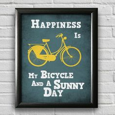 Bicycle Art Print, Bike Poster, Motivational Wall Art, Inspirational Print, Quote Print, Motivational Posters, Typographic Poster Cycling Quotes, Bicycle Quotes, Cycling Motivation, Motivation Wall, Exercise Motivation, Quote Prints, Art Prints, Motivational Posters, Bike Poster