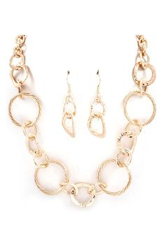 Eternity Necklace Set in Gold on Emma Stine Limited