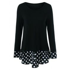 SHARE & Get it FREE | Polka Dot Patchwork Flounced T-ShirtFor Fashion Lovers only:80,000+ Items·FREE SHIPPING Join Dresslily: Get YOUR $50 NOW!