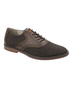 Look at this #zulilyfind! Brown Canvas Oxford by Tony's Casuals #zulilyfinds