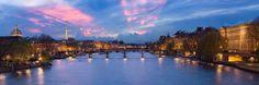 Pont des Arts au crépuscule par David Briard