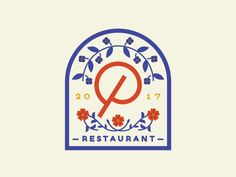 Primrose by Ryan Tantillo on Dribbble | Channeling my inner grandma working on some mocks that remind me of old cookie tins | badge flowers logo restaurant restaurant logo typography vintage