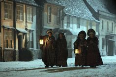 Historic Lacock Village Is Transformed For Filming Of BBC Period Drama Cranford