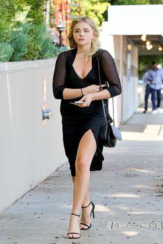 Chloë Moretz heading to the Pat McGrath party. August 23, 2016