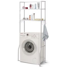2 Tire Space Saver Storage Rack for Bathroom The shelf is mainly constructed with white paint steel tube and mesh panels. External paint not onl