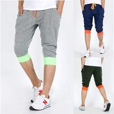 Sports & Entertainment Surfing & Diving Sfit Men Jogger Shorts Sports Sweatpants Gym Pants Flat Fitness Bottoms Trousers Beach Short Drawstring Solid Beachwear Vacation Consumers First