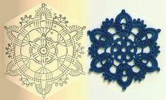 Transcendent Crochet a Solid Granny Square Ideas. Inconceivable Crochet a Solid Granny Square Ideas. Crochet Squares, Crochet Snowflake Pattern, Crochet Motifs, Crochet Snowflakes, Crochet Diagram, Doily Patterns, Crochet Chart, Thread Crochet, Crochet Granny