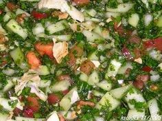 insalata libanese Lebanese Salad, Oriental, Biscotti, Cobb Salad, Cookie Recipes