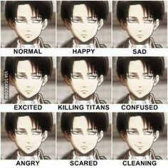 Levi Faces.. - Levi Ackerman Photo (37304001) - Fanpop
