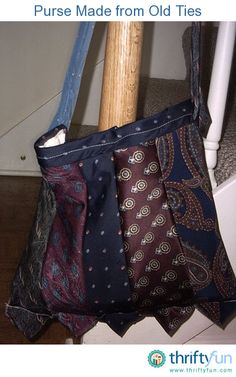 Cut old ties in equal lengths of your choice and sew together to make a neat purse. Line it with an inexpensive muslin and you're all set!