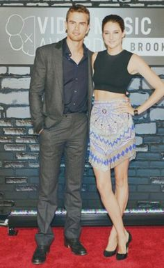 Shailene Woodley and Theo James at the 2013 Video Music Awards