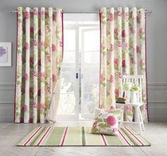 Buy Flourish Print Eyelet Curtains from the Next UK online shop
