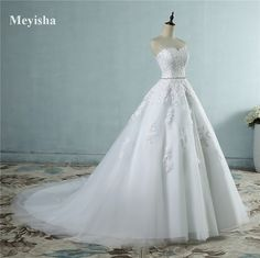 79.19$  Buy here - ZJ9032 2017 lace flower Sweetheart White Ivory Fashion Sexy Wedding Dresses for brides plus size maxi size 2-26W    #SHOPPING