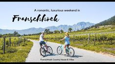 Romantic luxury weekend in Franschhoek Anniversary Getaways, Safari Holidays, Five Star Hotel, Hotel S, Africa Travel, Cool Places To Visit, South Africa, Travel Inspiration, The Good Place