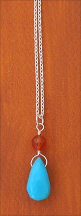 Handmade jewelry - Nacozari turquoise pendant (RARE) handmade-beaded-gemstone-jewelry.com  #handmade #jewelry #necklace