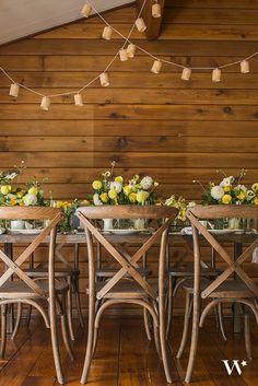 Give your wedding decor some height and some light! Suspend these rustic strings of lights with burlap shades to create a warm, vintage glow for your special celebration.
