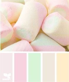 Marshmallow pastel color.