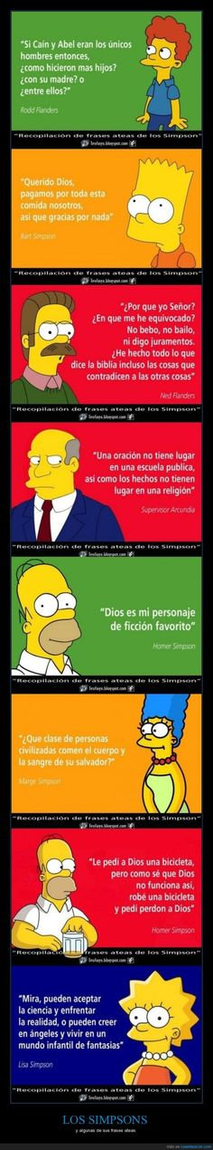 En Los Simpson cada uno tiene su opinión - y algunas de sus frases ateas