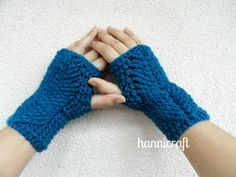 Braided Fingerless Mittens - free pattern