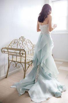 Unique lace mermaid long wedding dress, bridal dress, lace wedding gown, bridal gown