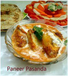 Paneer Pasanda | Paneer Recipe ~ Kiran's Food corner