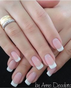 All girls like beautiful nails. The first thing we notice is nails. Therefore, we need to take good care of the reasons for nails. We always remember the person with the incredible nails. Instead, we don't care about the worst nails. French Nails, French Tip Acrylic Nails, French Tip Nail Designs, French Manicure Nails, Cute Acrylic Nails, Cute Nails, My Nails, Tips For Nails, Bridal Nails French