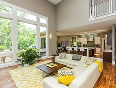 wohnzimmer farbgestaltung – grau und gelb - farbgestaltung grau, Mobel ideea