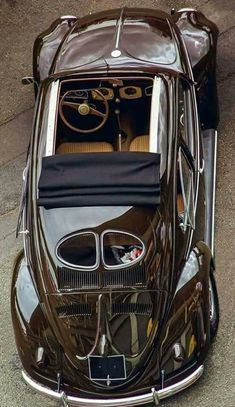 Early [very cool] Volkswagen Beetle Auto Retro, Retro Cars, Carros Vw, Auto Volkswagen, Kdf Wagen, Vw Vintage, Vw Cars, Vw Beetles, Amazing Cars