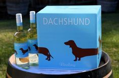 Dachshund Riesling Case with 2 Bottles Dachshund Breeders, Dachshund Puppies For Sale, Dachshunds, Doggies, Gifts For Pet Lovers, Dog Lovers, Diy Dog Collar, Personalized Dog Collars, Dog Safety