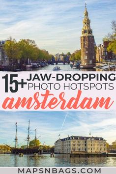 Best Photo Spots in Amsterdam (With Exact Locations! Top European Destinations, Places In Europe, Europe Destinations, Visit Amsterdam, Amsterdam Travel, Backpacking Europe, Europe Travel Guide, Travel Guides, Amsterdam Itinerary