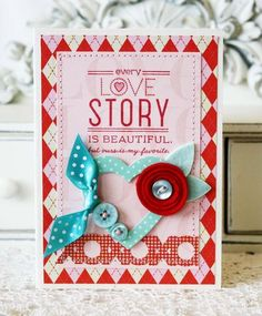 Love Story Card by Melissa Phillips for Papertrey Ink (December 2012)