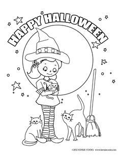 kensie cooks halloween coloring page kensie dressed as a witch