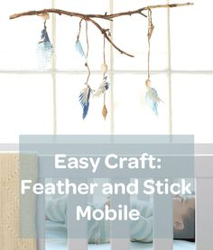 Send little dreamers off to sleep beneath a gently swaying branch. #Craft #DIY